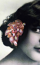 Weiss Skyline Collection Pink Marquise Pin Costume Jewelry Unsigned Pin Brooch - $85.90