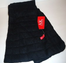 Ladies Women's Long Anne Klein Quilted Black Scarf, O/S - $43.07