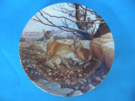 "GREAT CATS OF AMERICAS ""THE COUGAR"" BY LEE CABLE WILDLIFE COLLECTOR PLAT... - $14.01"