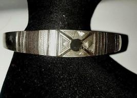 Sterling Silver Black Onyx Heavy Cuff Bracelet - $61.74
