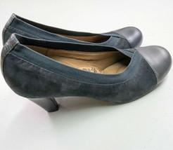 """Sofft Heather ante Azul Zapatillas Mujer Talla 6.5M 2.5"""" Tacón Estilo - $26.72"""