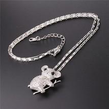 U7 Crystal Koala Pendants & Necklaces Silver/Gold Color AAA Cubic Zircon... - $16.64