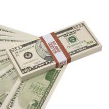PROP MOVIE MONEY - 2000 Series $50 Full Print Prop Money Stack Realistic... - $14.00
