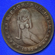 "Sexy Girl 5B ""Hobo Nickel"" on Morgan Dollar Coin ** - $3.79"