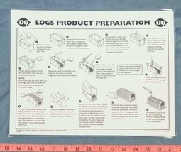 Dairy Queen Poster Plastic Logs Product Preparation Instructions 9x14 dq2 - $14.84
