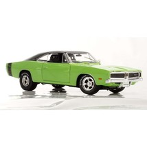 1969 Dodge Charger R/T 1:18 Muscle American Car Model Diecast Green/Oran... - $75.23+