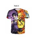 2017 Clothing Men's T shirt Anime Naruto Sasuke 3D Print Casual Tops Tee... - $27.99+