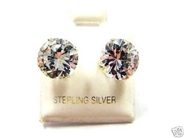 14K GOLD CZ STUD EARRINGS WITH BUTTERFLY BACKINGS - $19.99