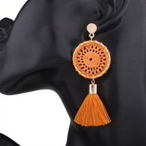 Knitting Bohemia Tassel Earrings Fashion Women Statement Dangle Drops Ea... - $25.99