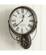KENSINGTON STATION new Hanging wall clock in Black - $119.99