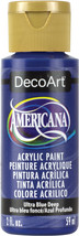 Americana Acrylic Paint 2oz-Ultra Blue Deep - Transparent - $6.89