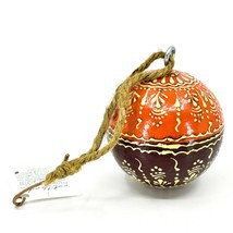 Asha Handicrafts Hand Painted Mango Wood Floral Holiday Christmas Ornament  image 1