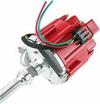 Buick HEI Distributor Red Cap BB 400 430 455 & 8mm Spark Plug Kit image 9