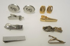 Lot of Vintage Men's Tie Clips & Cuff Links - $23.74
