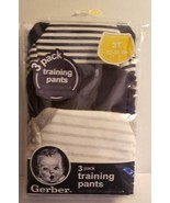 Gerber Training Pant Size 3T 32-36 lbs NIP Blue Grey - $6.23