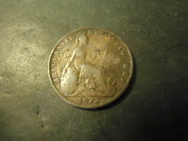 1822 ENGLISH FARTHING PENNY         > 1/4 D  COIN   - $29.70