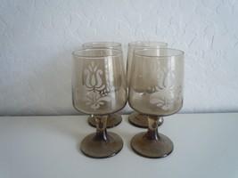 Pfaltzgraff Village 4 Goblets Made in USA - $15.83