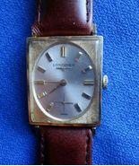 Vintage Longines Rectangular Fancy 10 K GF Hand Winding  Wrist Watch - $175.00