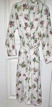 Laura Ashley Plush Rose Floral Fleece Robe Sz M New Never Worn - ₹1,741.10 INR