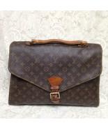 Louis Vuitton Brown Mono Coated Canvas Briefcase 17inx13inx3in - $470.20
