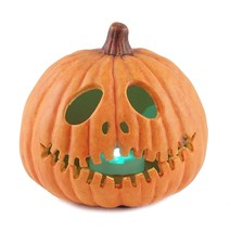 Jack O Lantern Light Up Halloween Figurine - £19.41 GBP