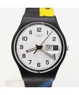 Vintage Swatch Watch White Face New Holland 1999 - $74.24
