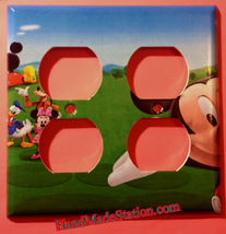Mickey Mouse House Club Light Switch Duplex Outlet wall Cover Plate Home decor image 8