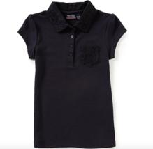 Nautica Big Girls Short Sleeve Lace Detail Polo Size M(8/10) - $8.81