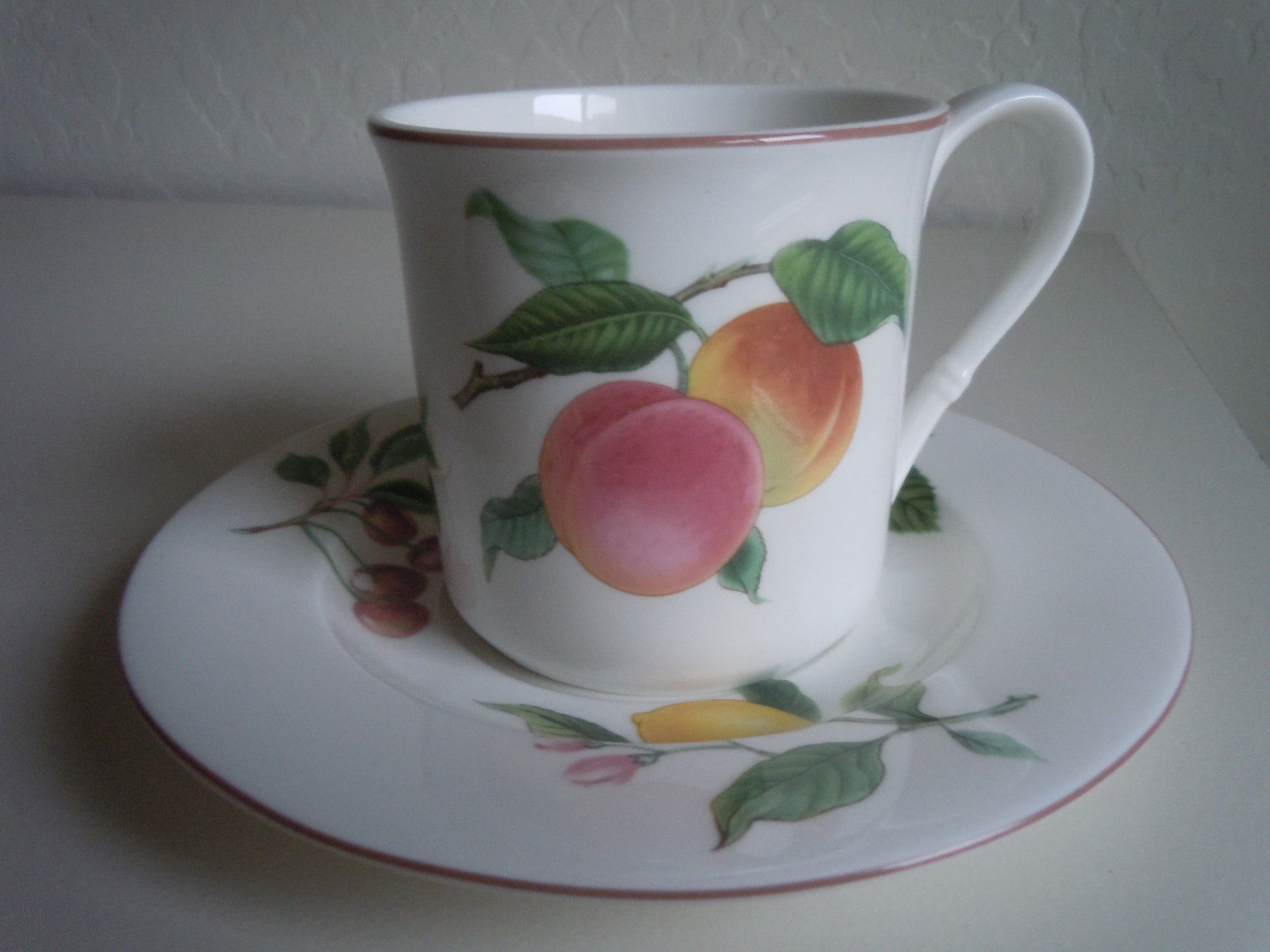 Christopher Stuart Fruit Finale Flat Cup and Saucer