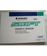 1992 Suzuki Swift Owners Manual Parts Service - $34.99