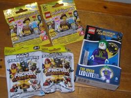 Lot of 2 Series 2 Lego Minifigures Unopened Blind Package THE JOKER LED Lite Key - $18.49