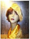 GOLDEN YELLOW BERET AND SCARF SET!