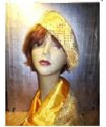 GOLDEN YELLOW BERET AND SCARF SET! - $19.95