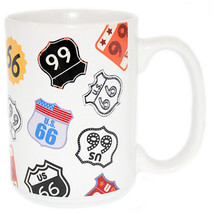 disney parks authentic us route 66 ceramic coffee mug cup new - $14.74