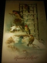 Antique Victorian Cards Beautiful Birds - £7.67 GBP