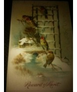 Antique Victorian Cards Beautiful Birds - €8,88 EUR