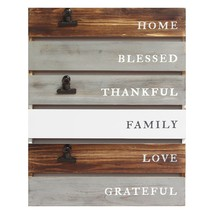 Inspirational Planked Wood Wall Decor - $38.67