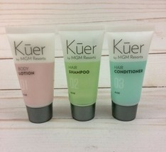 Sealed Kuer MGM Resorts ALOE Shampoo Conditioner Lotion 3 Pc Travel Set - $14.92