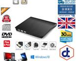 External CD DVD RW Drive Writer Burner Reader Blu Ray for Windows Mac Laptop PC