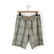 Tommy Bahama Men's Size 34 Chino Bermuda Shorts Silk Blend Gray Blue Plaid - $18.00