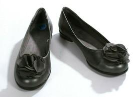 Aerosoles Gun Metal Gray Leather Ballerina Flower Flats Shoes Size 7 1/2 - $24.19