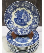 """Set of 10 Petrus Regout & Co Maastricht Abbey Pattern 8.5"""" Lunch Plates - $163.35"""