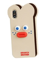 Brunch Brother iPhone X Silicon Case Cover Skin Protector Version 1 (Toast) image 2