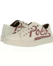 POLO Ralph Lauren, Men's Logo Sneaker, JERMAIN, Size 8 White, Calfskin L... - $32.67