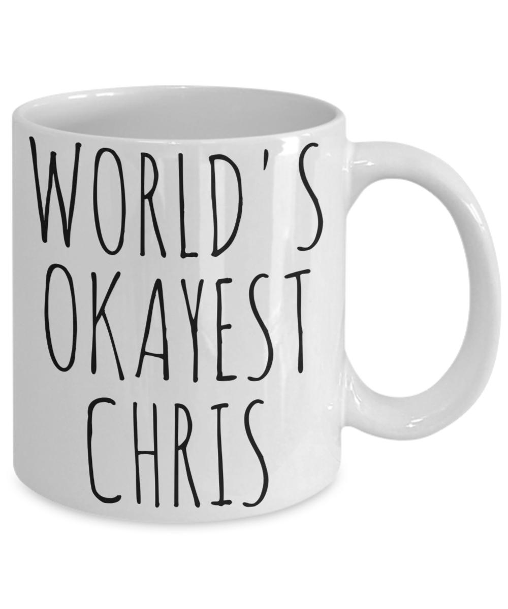 Personalized Name Worlds Okayest Custom Mug Funny Gift Idea Christmas Birthday