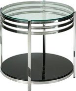 Cortesi Home Lavia Contemporary Two Tier Round Glass End Table - $156.72