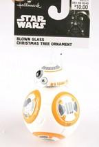 Disney Star Wars BB-8 BB8 Last Jedi Hallmark Blown Glass Christmas Xmas Ornament image 2