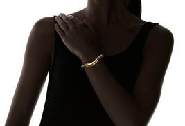 NEW Gemelli Rainbow Druzy Quartz Beaded Gold Glam Bar Bracelet NWT image 2