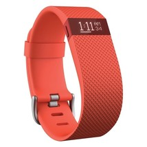Fitbit Charge HR Wireless Activity Wristband Tangerine, Large (6.2 - 7.6 in) NIB - $108.89