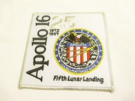"""APOLLO 16 Fifth Lunar Landing 4 x 4"""" Embroidered Patch 25 Year 1972-1997... - $12.00"""